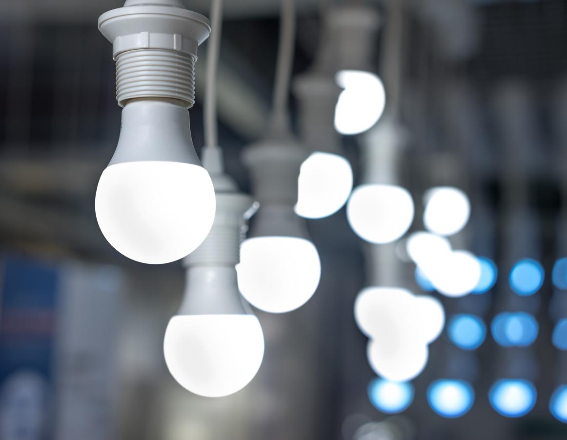 LED lighting in a restaurant