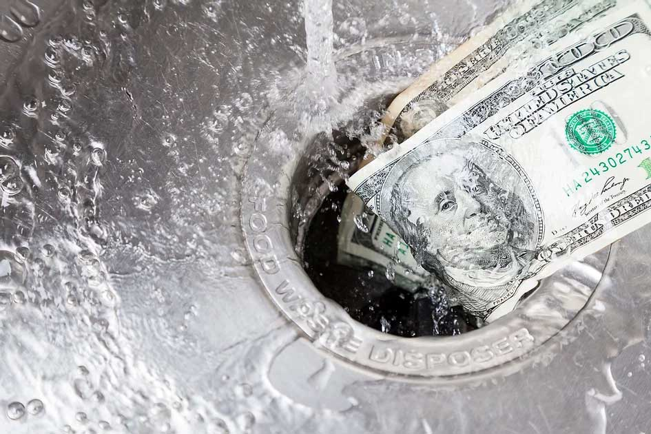 washing money down the drain